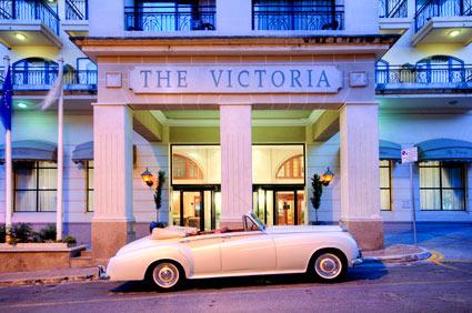Eingang Victoria Hotel Malta